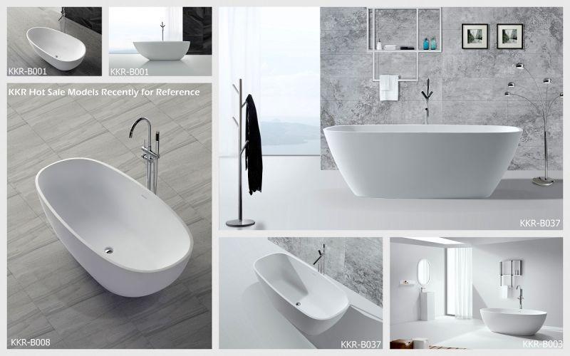 Vasca Da Bagno In Lingua Inglese : Vasca da bagno indipendente di pietra comoda di figura rotonda del