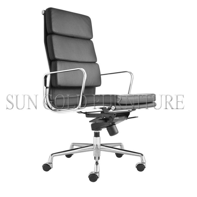 Foshan silla de oficina de cuero de f brica con respaldo for Fabrica sillas oficina