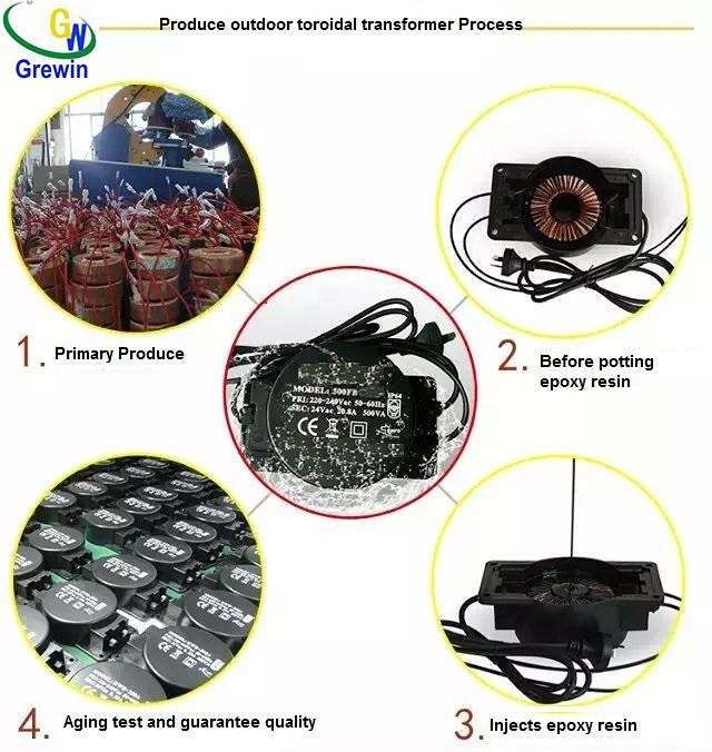 Waterproof Outdoor Toroidal Transformer for Swimming and Lighting
