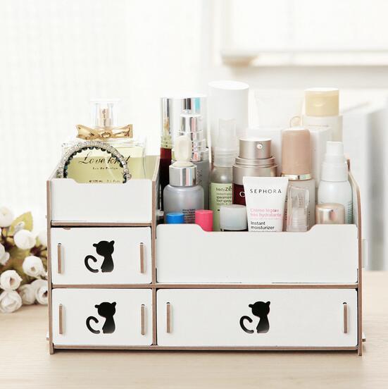 Hot Creative Desktop Cosmetic Storage Box Wholesale DIY Wooden Storage Box & China Hot Creative Desktop Cosmetic Storage Box Wholesale DIY ...