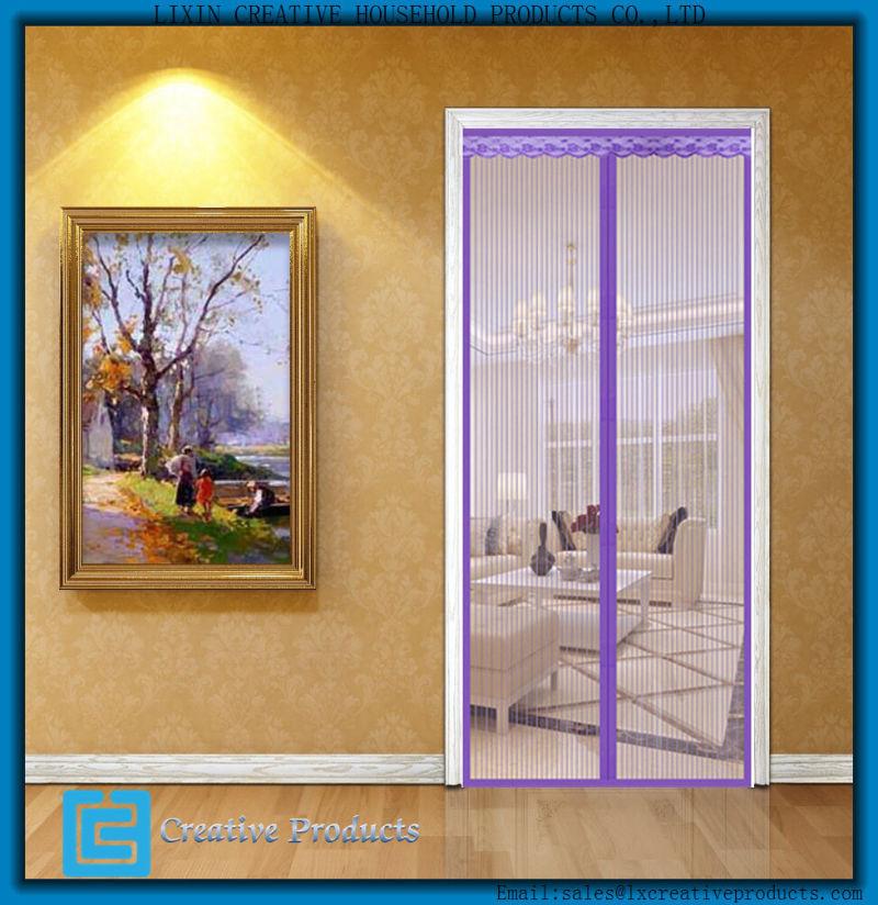 China new magnetic screen doors magnetic retractable for Magnetic sliding screen door