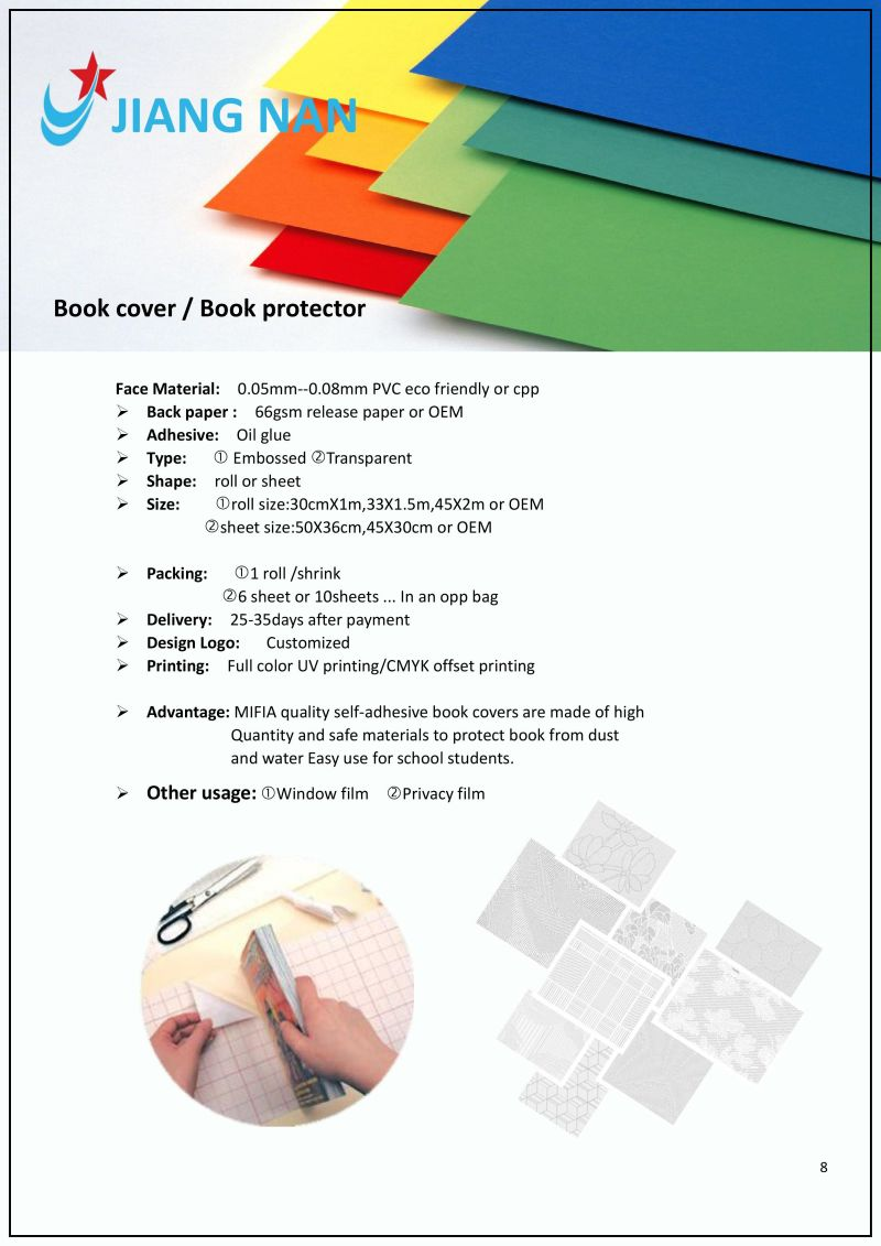 How To Make A Book Cover Out Of A Paper Bag ~ China transparent pvc book protector film book cover china book