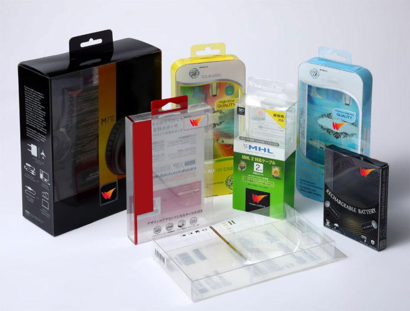 Cajas de embalaje de pl stico transparente de pvc cajas - Caja transparente plastico ...