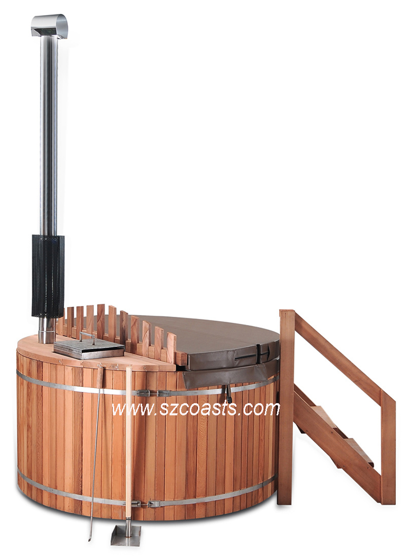 China Red Cedar Wood Outdoor SPA Hot Tub for 2-8persons - China ...