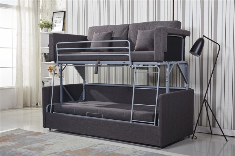 Space Saving Functional Sofa As A Double Decker Bunk Bed