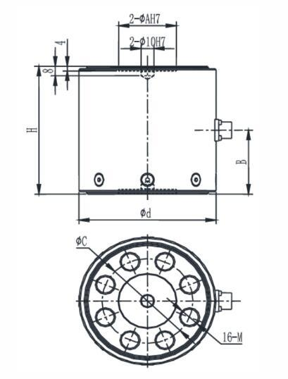 China Big Capacity Reaction Torque Force Sensor B903c