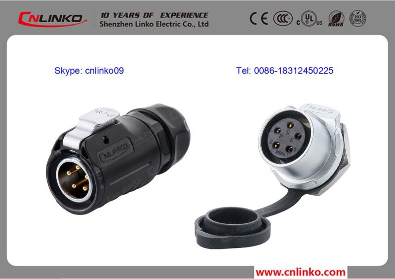 china ip68 waterproof 5pin connector for led lighting china power