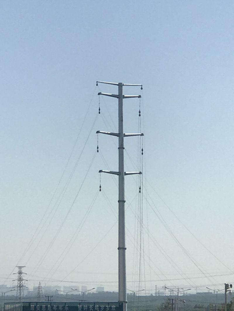 10kv-1100kv Double Circuit Transmission Steel Tube Pole Tower