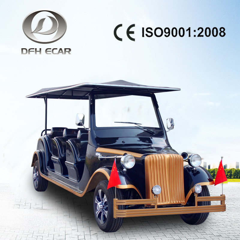 China 8 Seaters Solar Panel Golf Cart Electric Vintage Car Factory ...