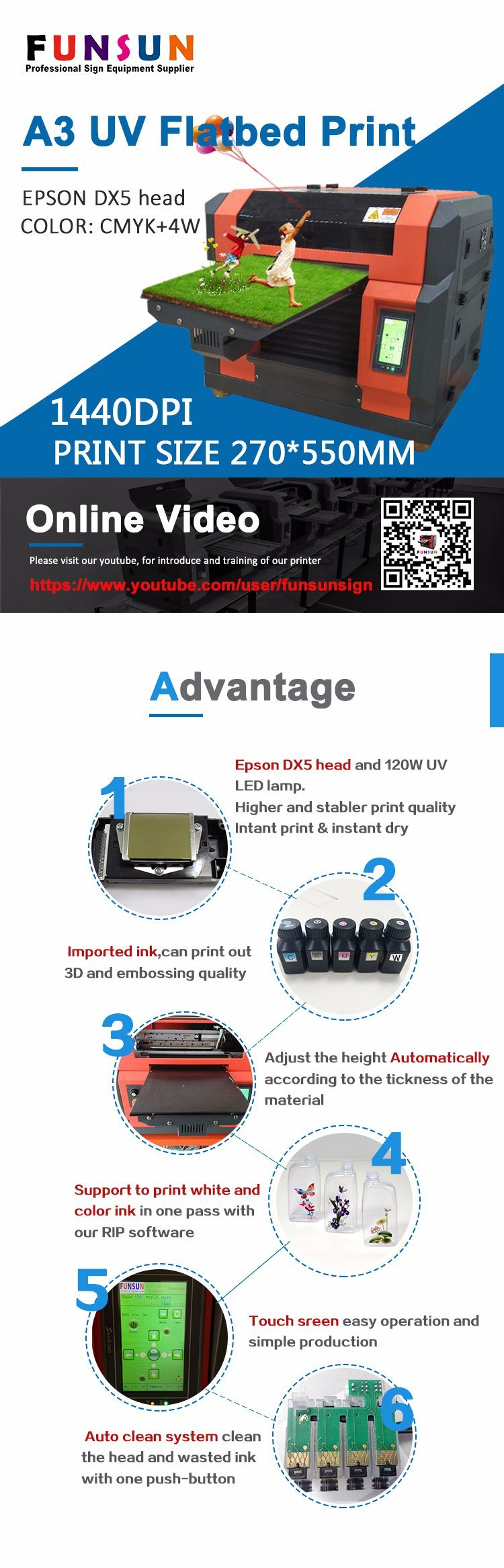 China Funsunjet A3 UV Digital Business Card Printing Machine - China ...