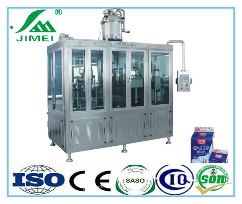 Chine Gable Top Carton Automatique Lait Jus Machine D