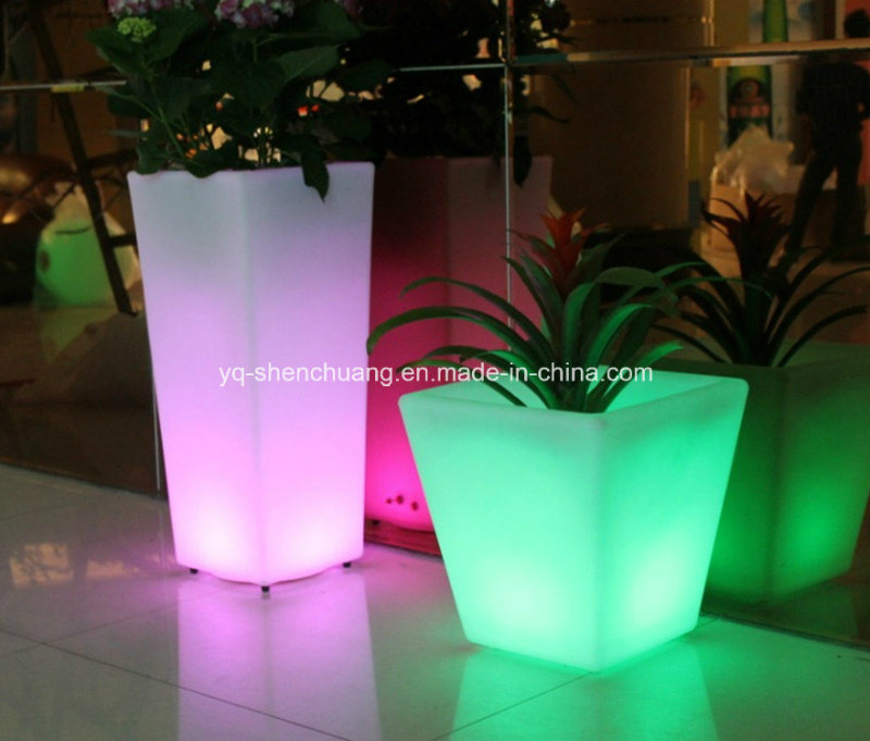 China Outdoor Solar Led Pots Light For Garden Plant Flower