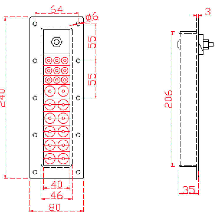 Adjustable Type Cable Entry Seals, Carbon Steel Frame, Sealing Modules, Multi-Diameter Cable Entry Plate
