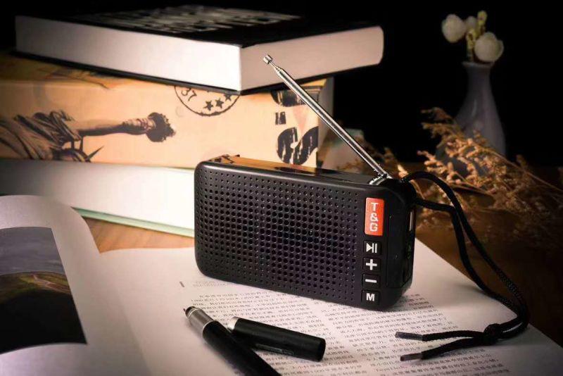 Mini Solar Charging Bluetooth Speaker Tg184, with TF/USB/FM/Aux/Handsfree/Flashlight/Handle