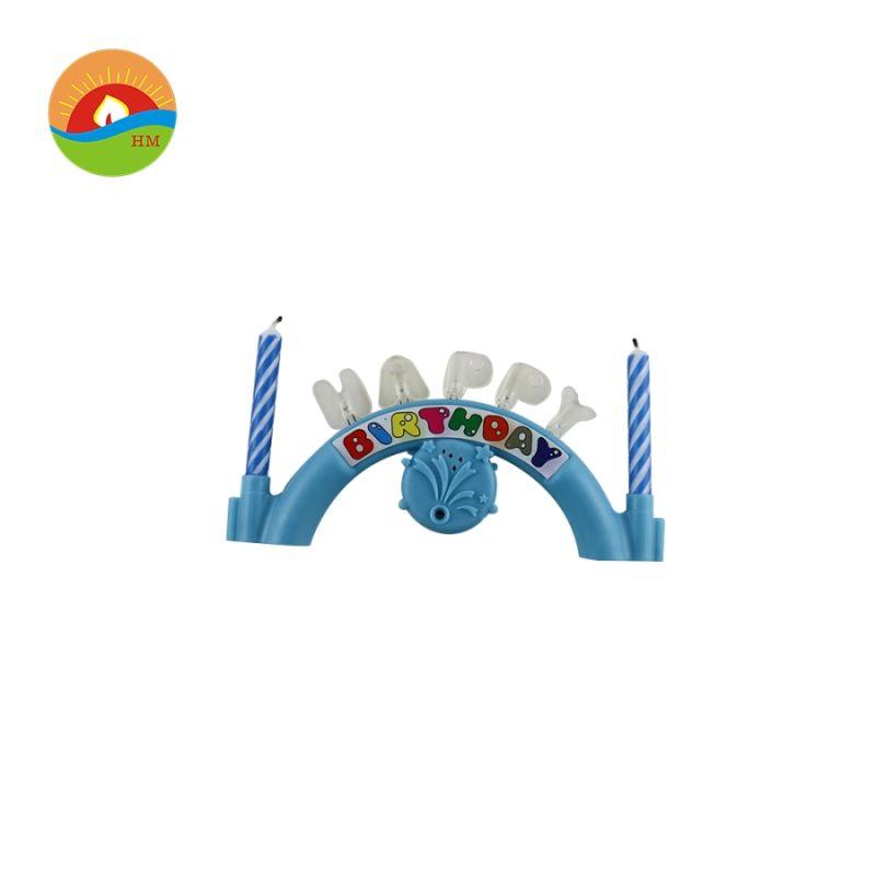50b96963b Azul y rosa con forma de puente de la música feliz vela de ...
