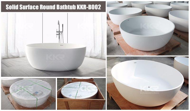 Vasca Da Bagno Freestanding Rotonda : Vasca da bagno indipendente della stanza da bagno di pietra