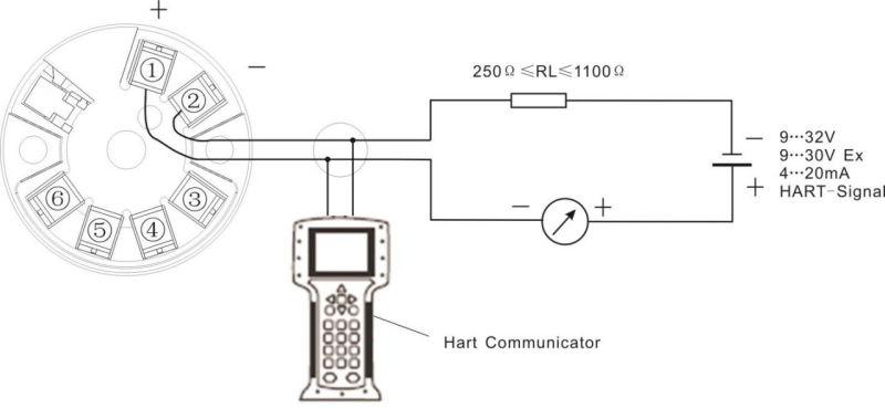 4 hart 2 fils pt100  3 fils de transmetteur de t u00eate