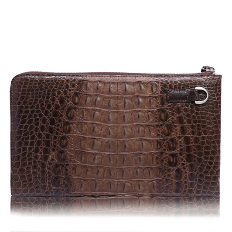 china men clutch evenlope bag genuine crocodile leather wristlet