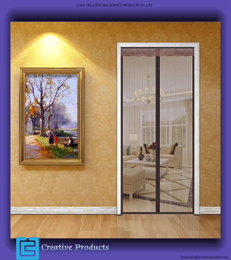 China new magnetic screen doors magnetic retractable for Retractable screen door replacement magnet