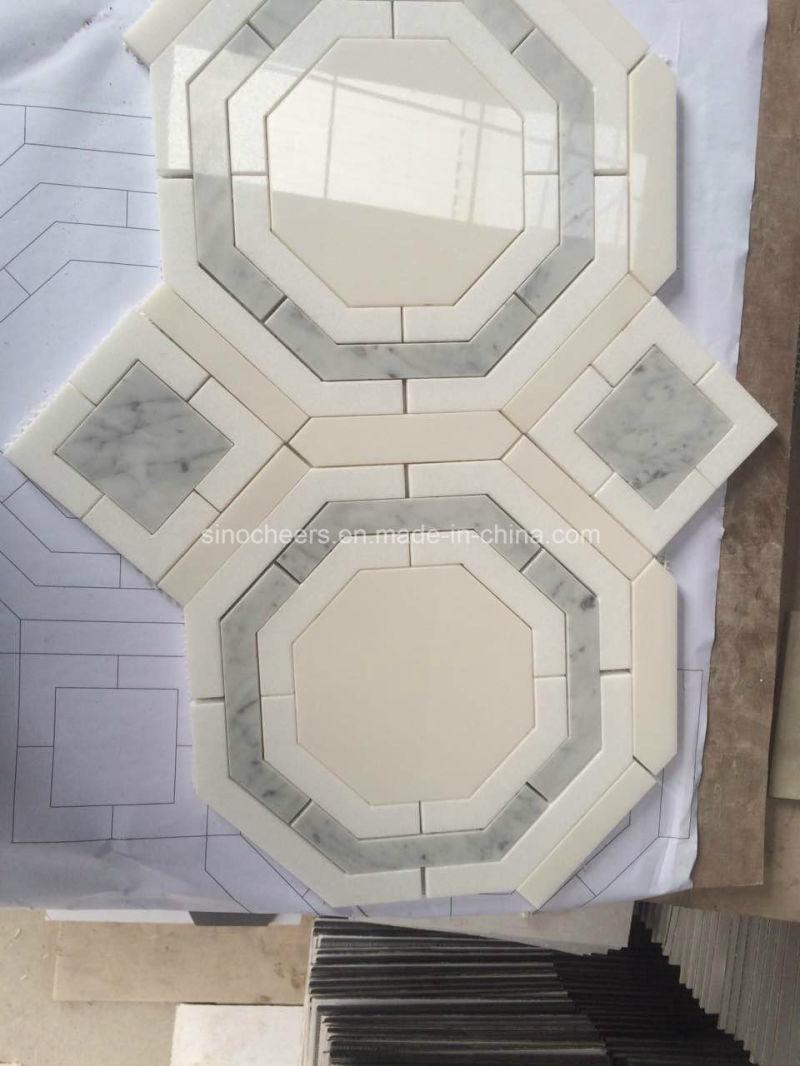 China Bathroom Wall Wholesale Waterjet Marble Tile - China Wholesale ...
