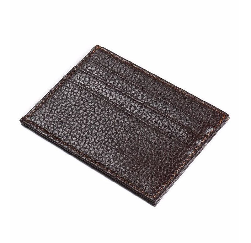 China PU Leather Men Slim Business Card Holder Wallet - China Card ...