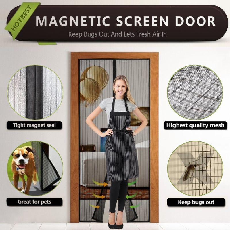 Magic Mesh Screen Magnetic Screen Door Curtains
