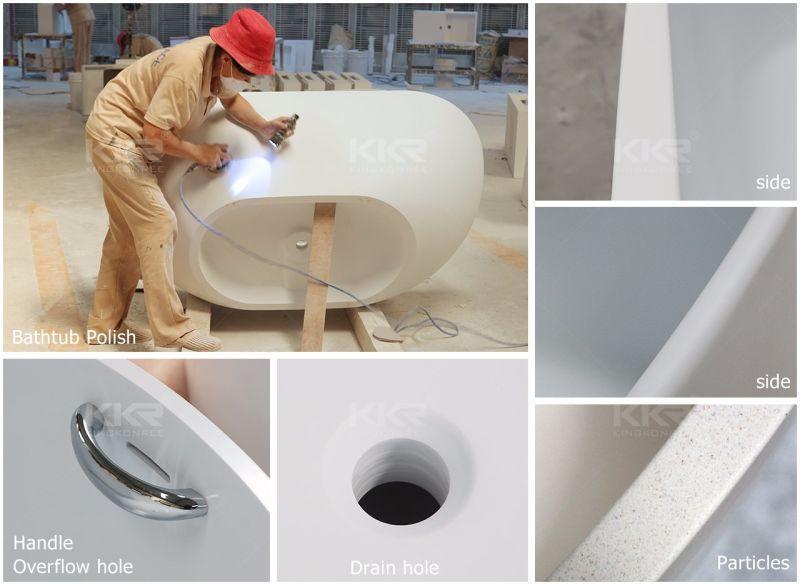 Vasca Da Bagno Indipendente Piccola : Vasca da bagno di pietra di superficie solida indipendente di
