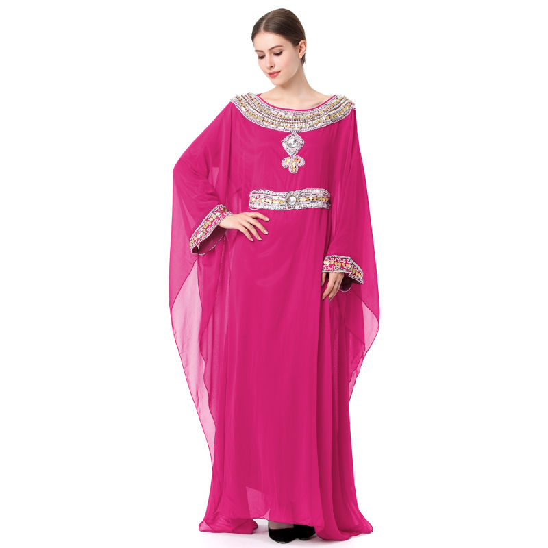 Comercio al por mayor 2018 Dubai islámico musulmán vestido Kaftan ...