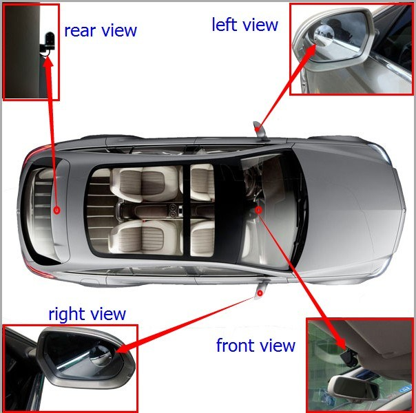 China Mini Mirror Camera For Car Side View
