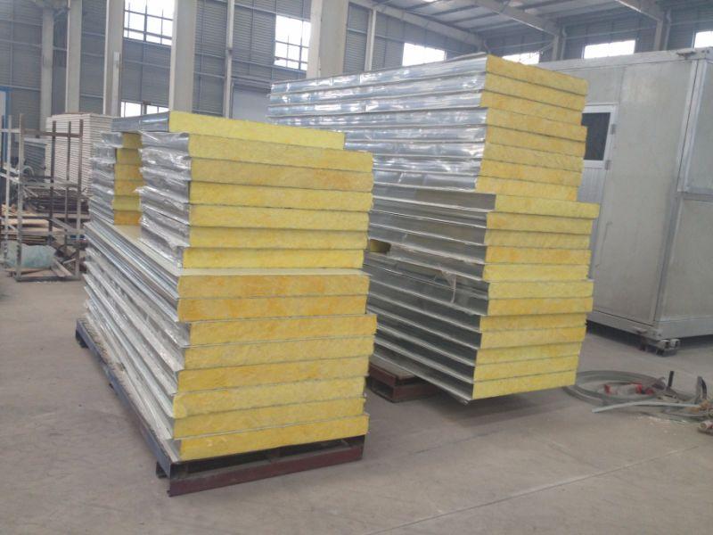 China Fiber Glass Wool Sandwich Panel for Prefab House Wall - China ...