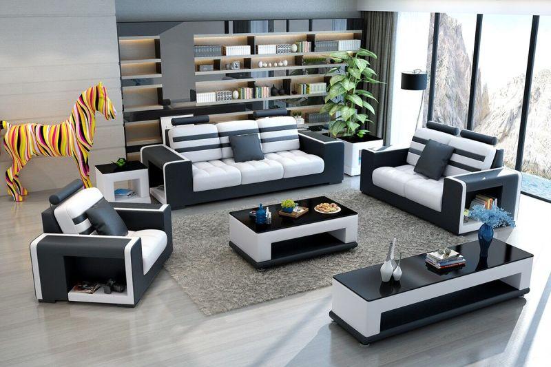 Sofá seccional de madera del cuero genuino de los muebles de ...
