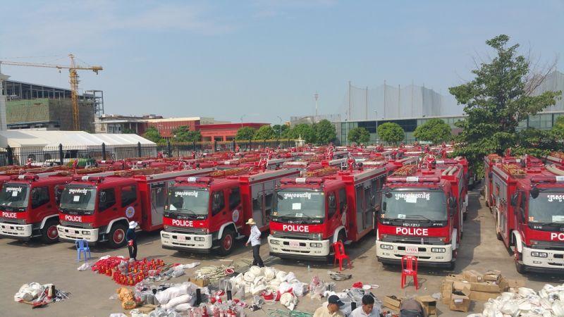 Professional la lucha contra incendios de suministro de for Water salida trasera