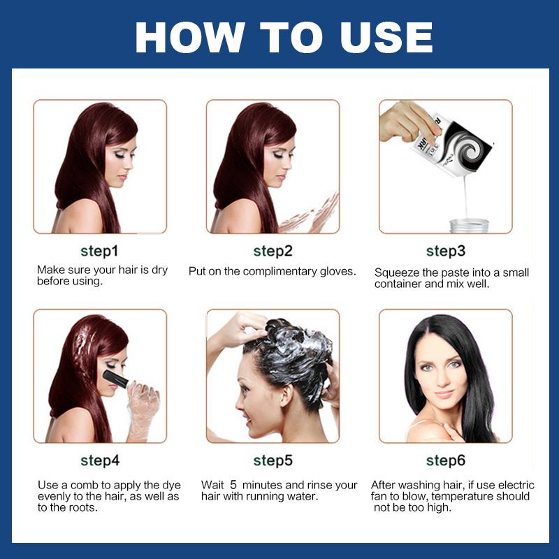 China Hair Color Shampoo for Grey Hair Semi Permanent Hair Color ...