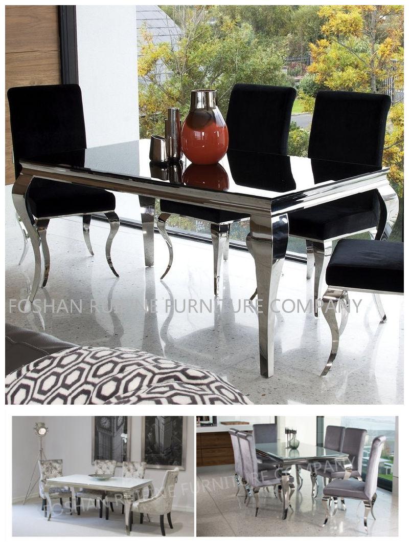 Metal moderno de vidrio contemporáneo en acero inoxidable Muebles de ...