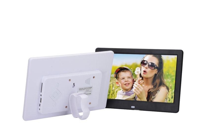 Marco digital HD de 10 pulgadas TFT-LCD Porta retrato de reloj de ...