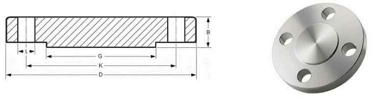 ANSI B16.5 ANSI B16.47 Series a B Carbon Steel A105 Blind Pipe Flange