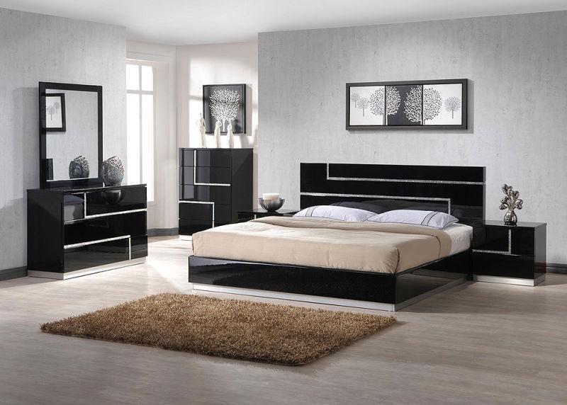 Un Design Elegant Haute Brillance Lit Chambre A Coucher Meubles