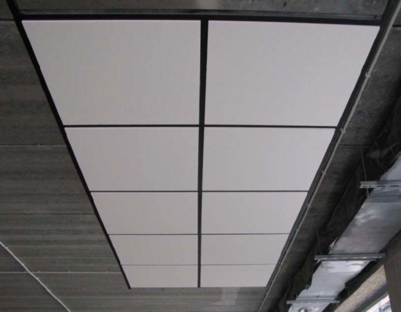 Panneau de plafond acoustique en fibre de verre ignifuge conseil d 39 d coratif suspendu panneau - Fibre de verre plafond ...