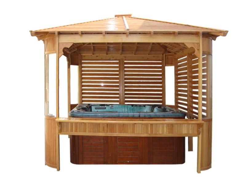 De hete modieuze hete ton openlucht houten gazebo van de verkoop