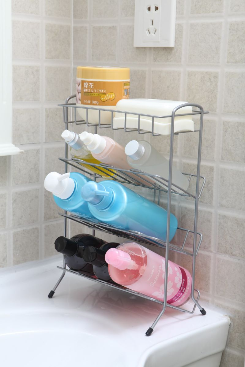 Wire Shampoo Rack 2~4 Layer Bathroom And Soap Holder
