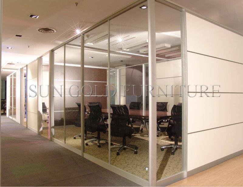 China tabique divisor armazón de aluminio Cristal Mampara de Oficina ...
