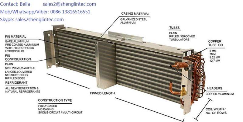 Scambiatore di calore aria acqua di rame per il for Serbatoio di acqua di rame