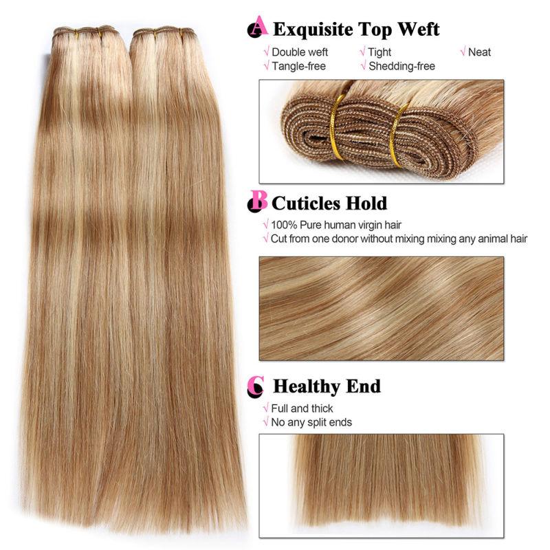 Vierge Br Silien Cheveux Raides Remy Cheveux Humains De La Trame Vierge Br Silien Cheveux